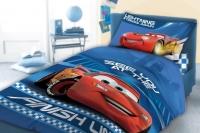 Pościel Cars 100x135 bawełna 041 niebieski