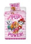 Pościel Psi Patrol różowy 160x200 bawełna
