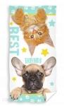 Ręcznik Kot + pies 70x140 licencja