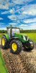 Ręcznik Traktor zielony 70x140 licencja